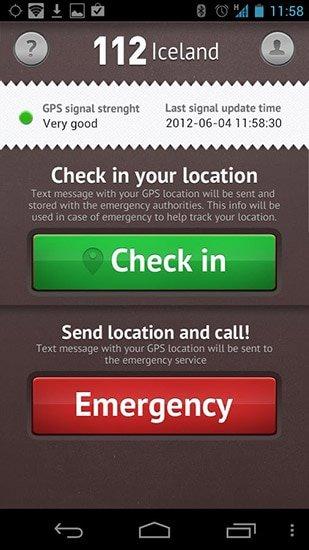 112 Iceland safetravel app