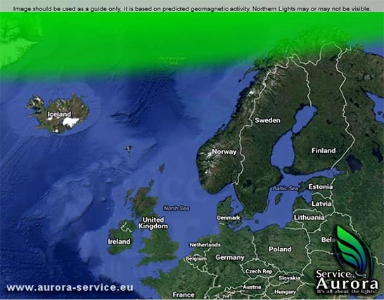 Aurora service map