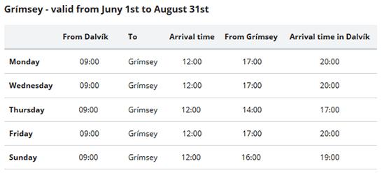 Grimsey ferry