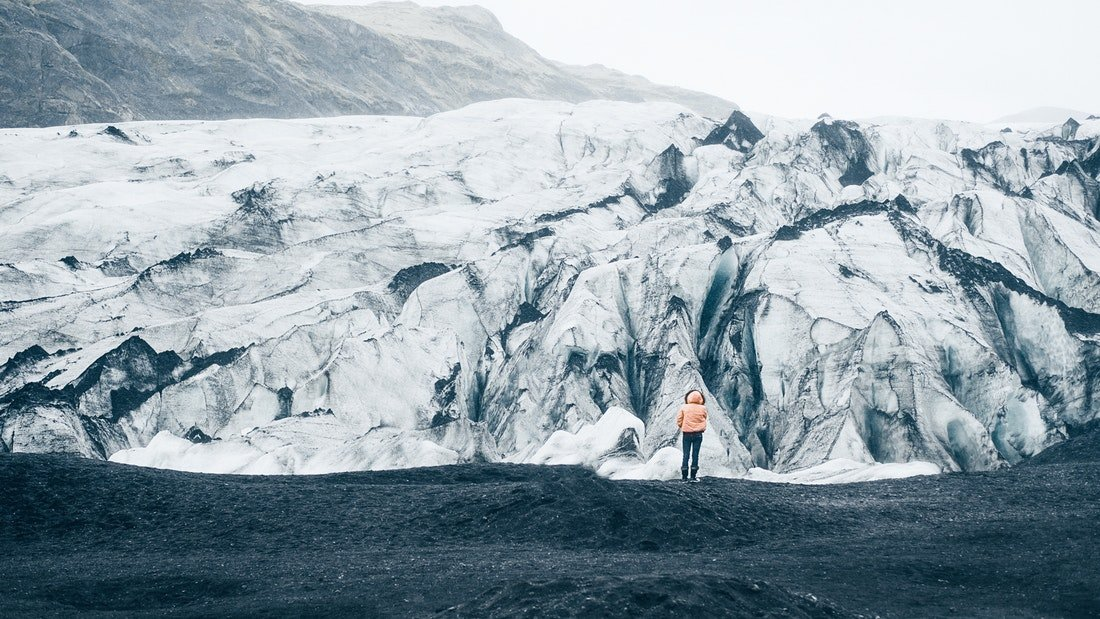 Iceland Solheimajokull Glacier