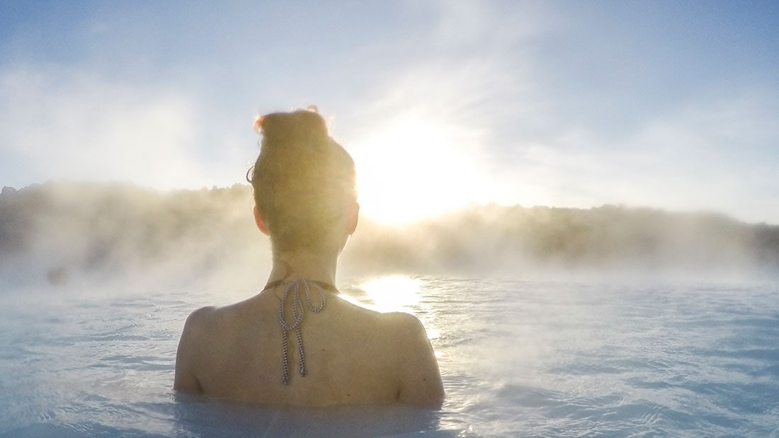 Woman in Blue Lagoon Iceland