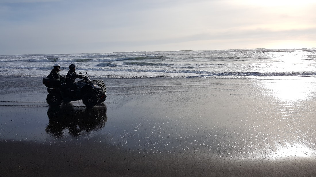 Black Beach ATV ride in Iceland
